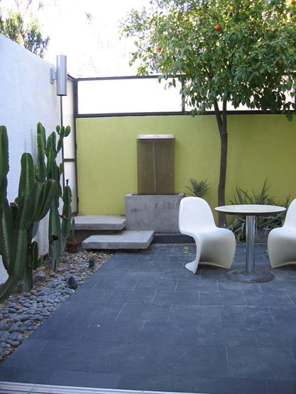 Backyard seating at Camelback Place