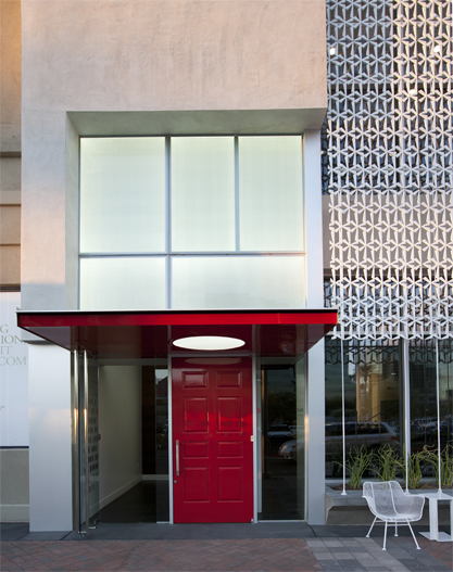 Exterior view of Red Door Spa at the Biltmore