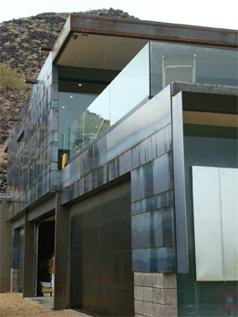 Exterior detail of Scottsdale Residence
