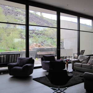 Living room at the Scottsdale Residence