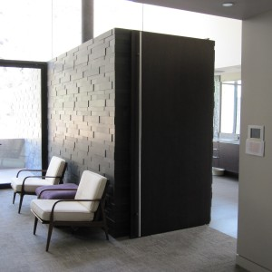 Partition divider at the Scottsdale Residence