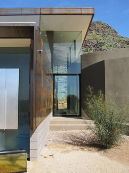 Side gate at Scottsdale Residence