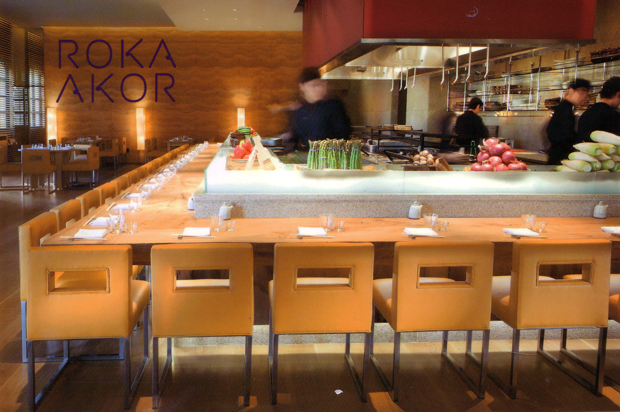Bar seating at Roka Akor