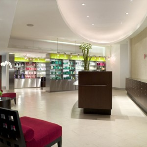 Retail space at Red Door Spa in Fort Lauderdale
