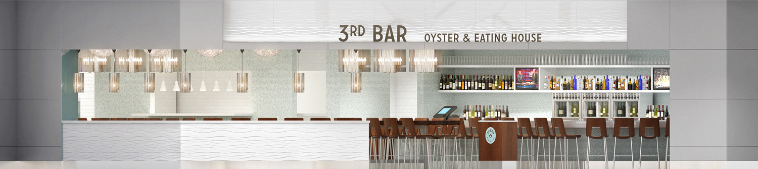 Elevation view of 3rd Bar at George Bush Intercontinental Airport in Houston, Texas