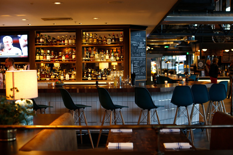 Bar seating at The Henry