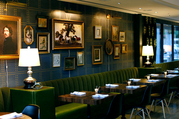 Additional booth seating at The Henry