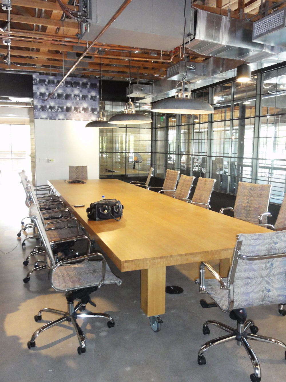 Conference room at the Fox Restaurant Concepts Office