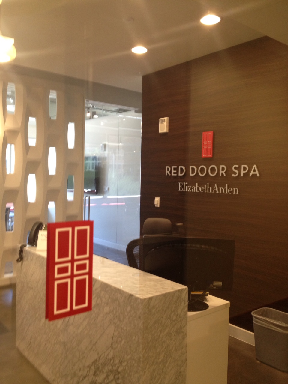 Entrance to Red Door Spa Office