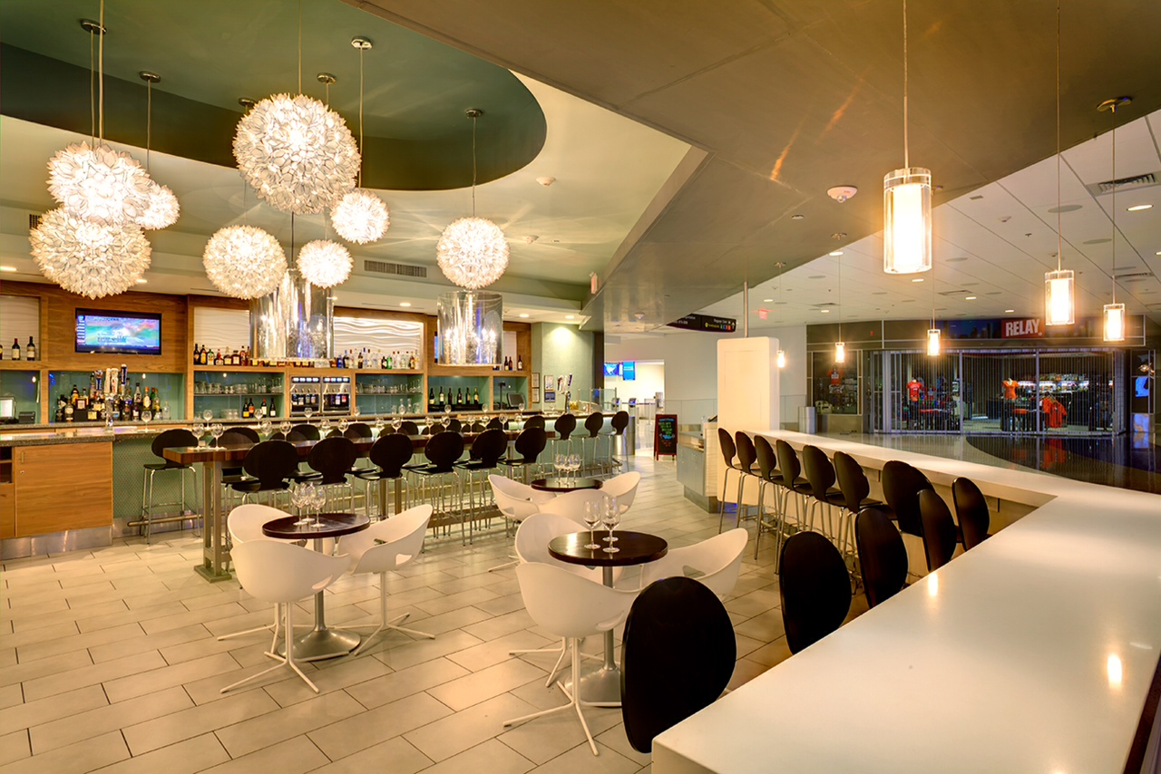 Interior view of 3rd Bar at George Bush Intercontinental Airport in Houston