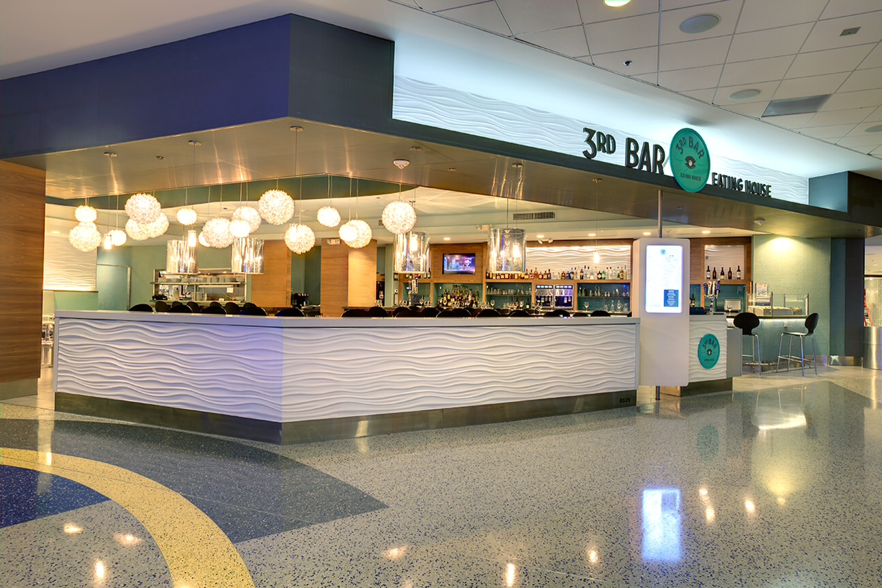 Exterior view of 3rd Bar at George Bush Intercontinental Airport in Houston